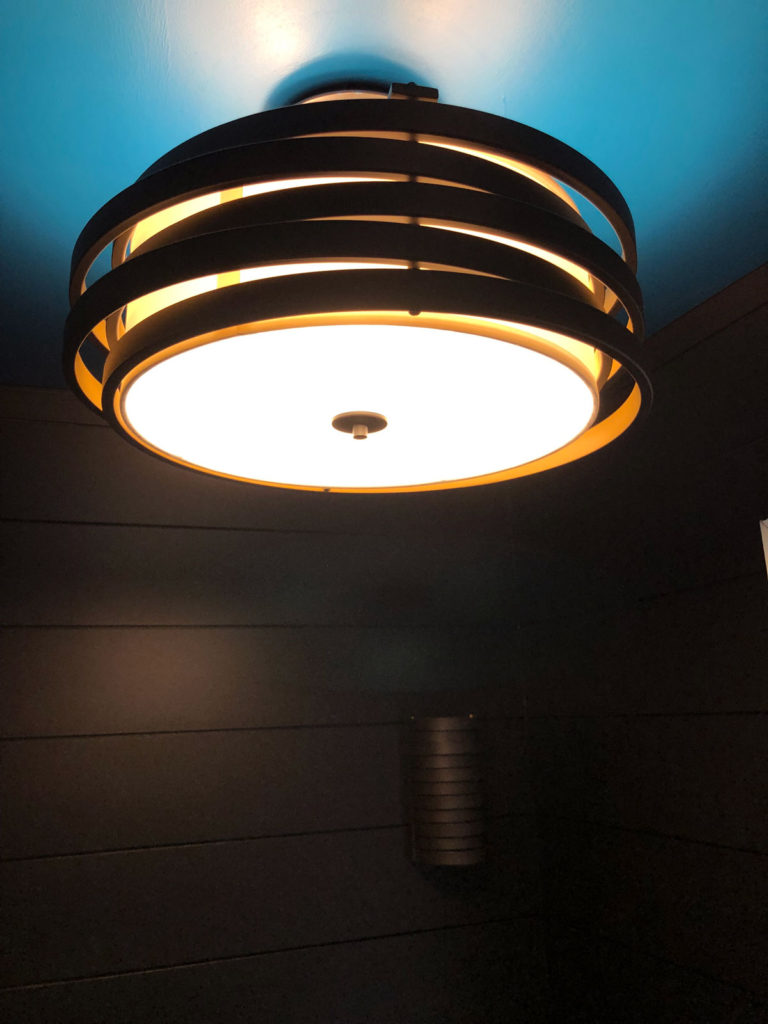 Love this Roswell 3-light pendant we chose.
