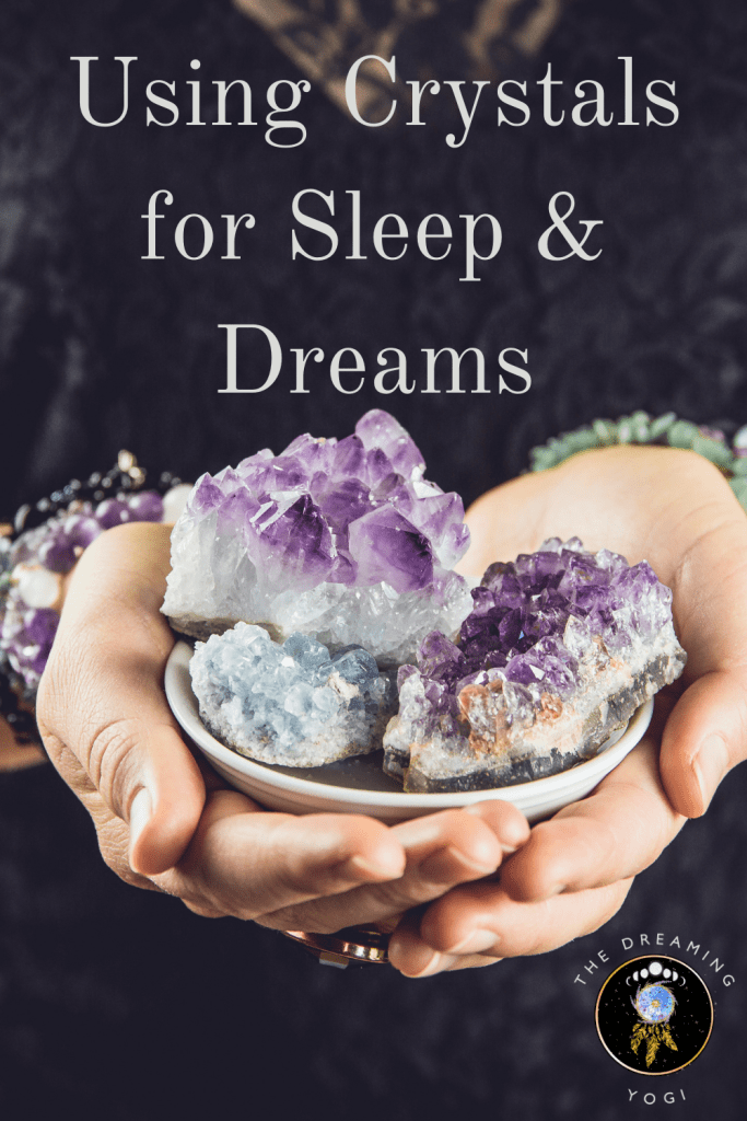 Did you know you can use crystals for dream work? Crystals come in a variety of shapes, sizes, types and colors each with a wide range of properties.  Each crystal has it own frequency so when you work with one for a period of time you will match the frequency of the crystal.
