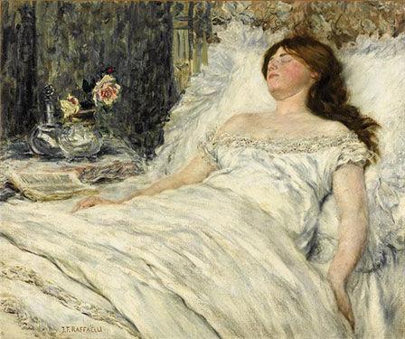 La belle endormie, by Jean-François Raffaëlli, ca 1900
