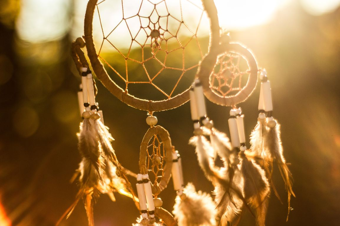 Dreamcatcher in sunlight at sunset for Weird and Special Dreams