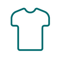 A short-sleeved t shirt outline icon for the apparel section of the drexelbrook market web store