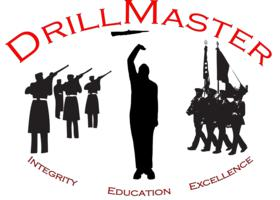 drillmaster logo, drill team, exhibition drill