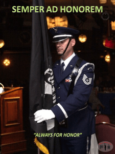 Honor guard training and motivation picture- semper ad honorem