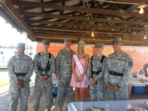 Miss Bourbon County and Army Cadets Honor Guard, drillmaster