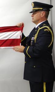 Second American Flag Horizontal Fold
