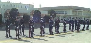 Kadena Air Base Honor Guard Joint Service Cordon