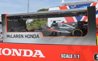 McLaren Honda F1 toy box stand Goodwood Festival of Speed 2015