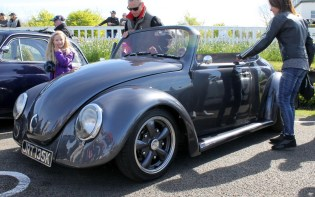 Custom VW Beetle convertible Goodwood Breakfast Club Soft Top Sunday May 2016