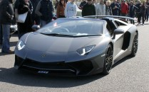 Lamborghini Aventador SV Goodwood Breakfast Club Soft Top Sunday May 2016