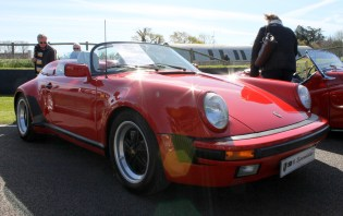 Porsche 911 Speedster front Goodwood Breakfast Club Soft Top Sunday May 2016