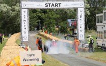 Napier Bentley start line burnout Cholmondeley Power and Speed 2016