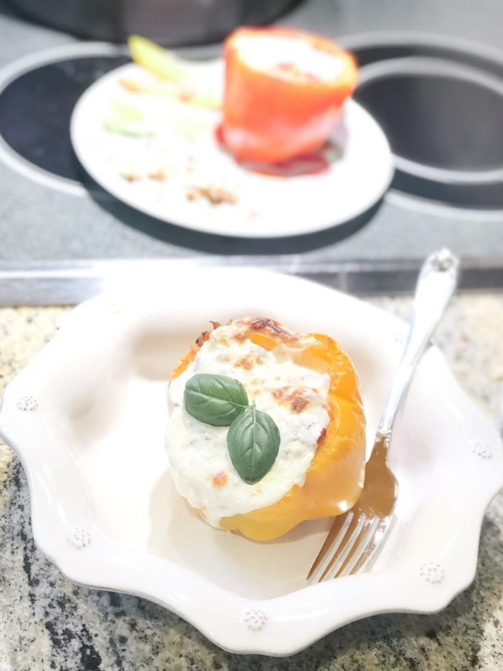 Kid-Friendly Italian Stuffed Peppers with Chicken
