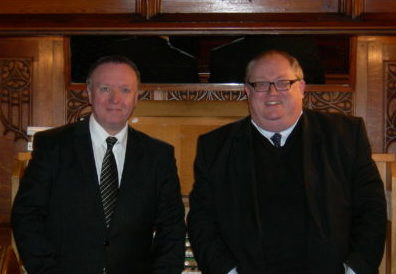 Organists Nigel and Kevin