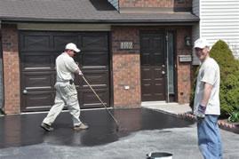hand applied asphalt sealer