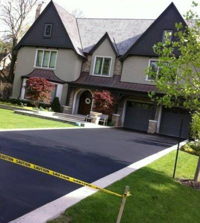 sealed asphalt driveway