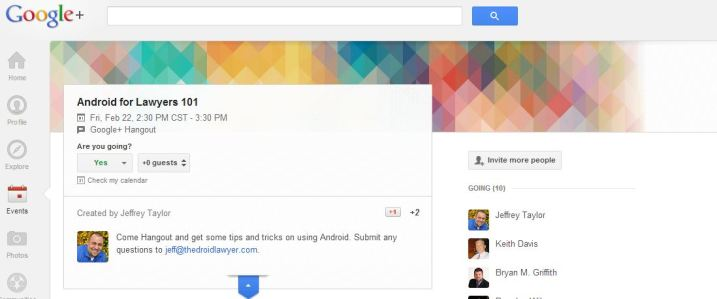 Google Hangout Android for Lawyers 101