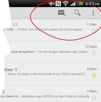 Delete Button Missing from Gmail App