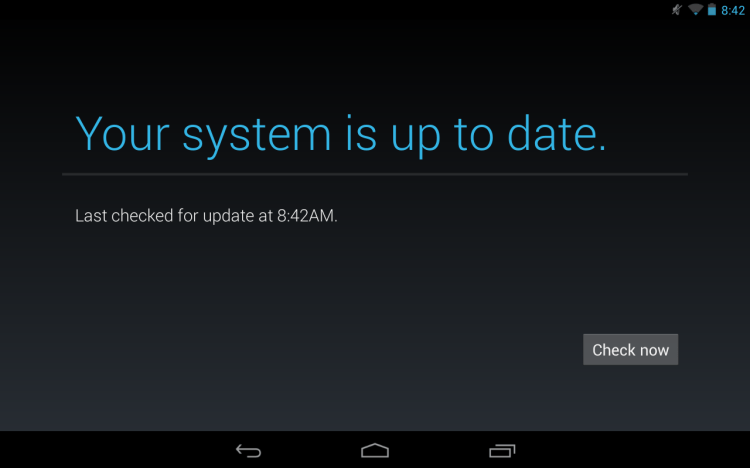 Android 4.3 System up to Date