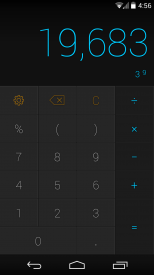 CALCU calculator with equation