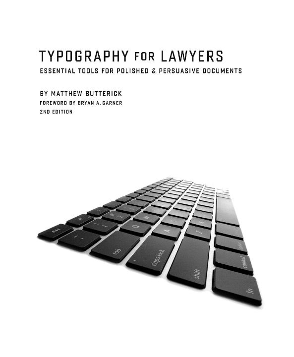 Butterick Typography for Lawyers