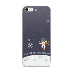 """iPhone 5/5s/SE & 6/6s/Plus/6sPlus case """"Fly Me To The Moon"""""""