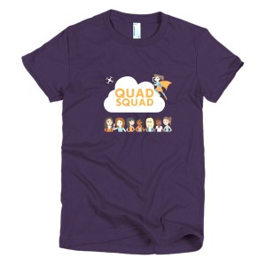 """Quad Squad"" Short sleeve women's t-shirt"