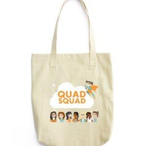 """""""Quad Squad"""" Tote bag"""