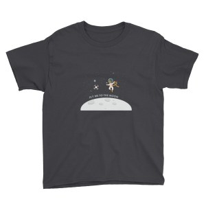 """Fly Me To The Moon"" Youth Short Sleeve T-Shirt"