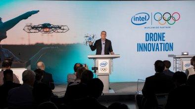 olympics intel drones