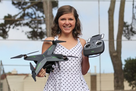 xiro xplorer 4k drone girl sally french