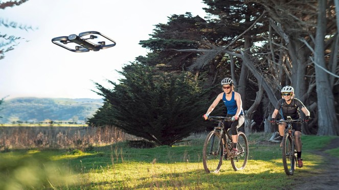 Skydio R1 drone bike gopro