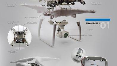 dji phantom drone dissection