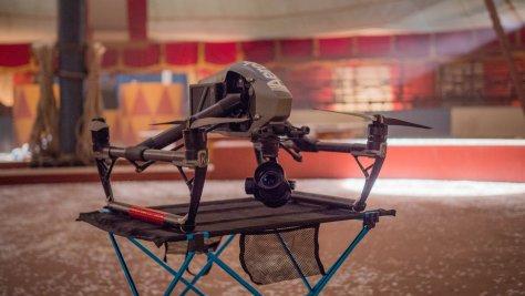 drone catch rig greatest showman Sasha Rezvina  Aerobo