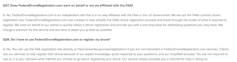 fake scam faa site drone registration