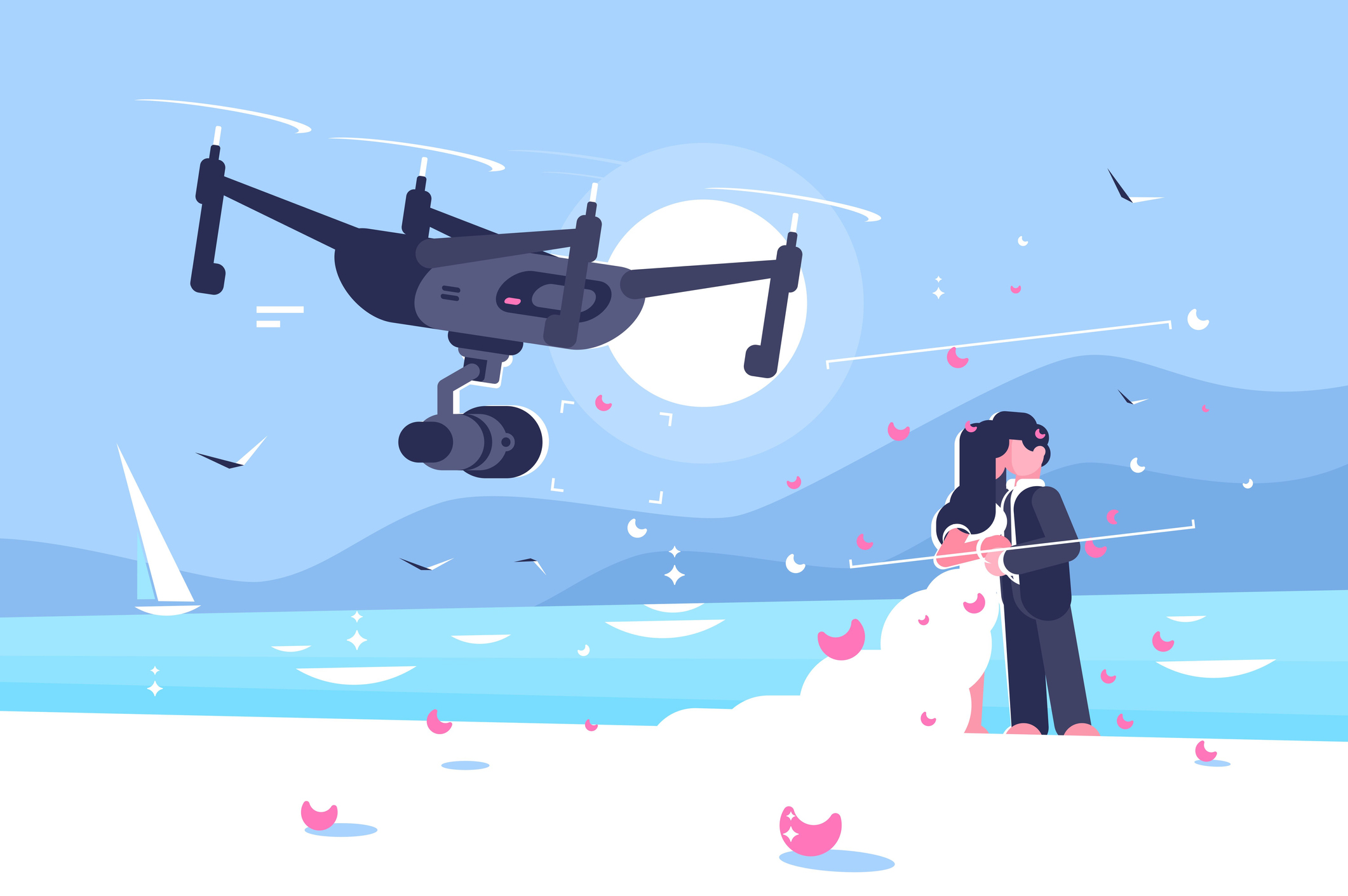 Drone Wedding Photography.The 3 Best Professional Wedding Photography Drones For 2019