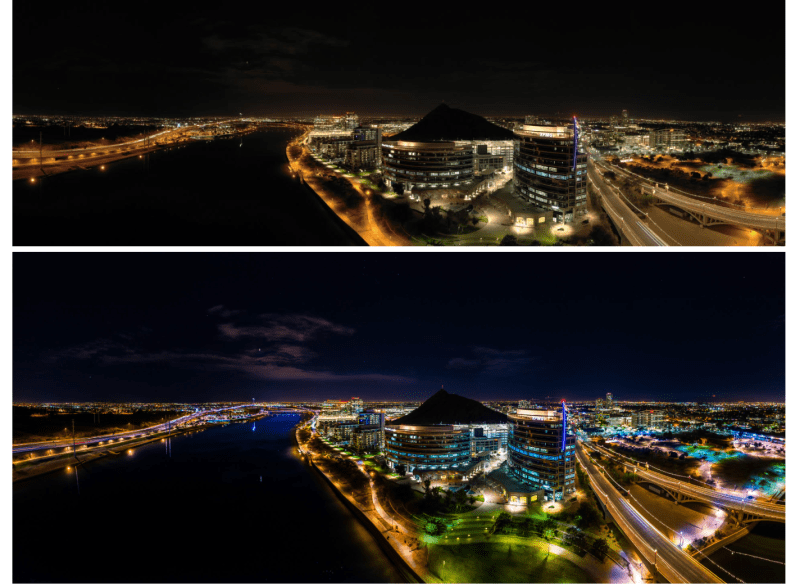 Aerial Photo Pro night city