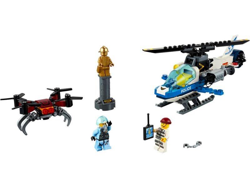 LEGO police drone minifigures