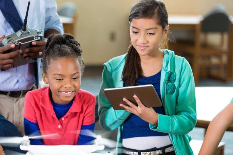 STEM program drone DJI Phantom education classroom