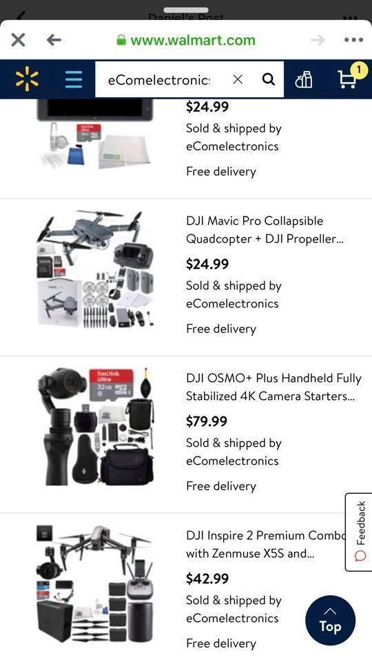 Lucky drone pilots buy $18 DJI Spark drones after mistake Walmart sale