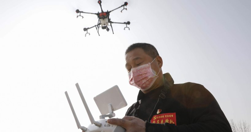 drone coronavirus outbreak