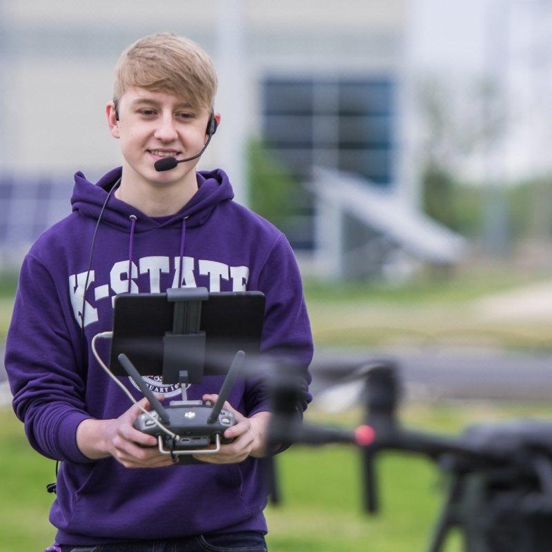 Kansas State University Polytechnic Campus drone summer camp UAS Virtual Academy