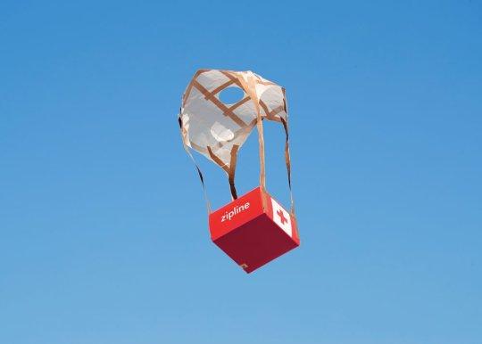 Zipline expands parachute drop medical supplies
