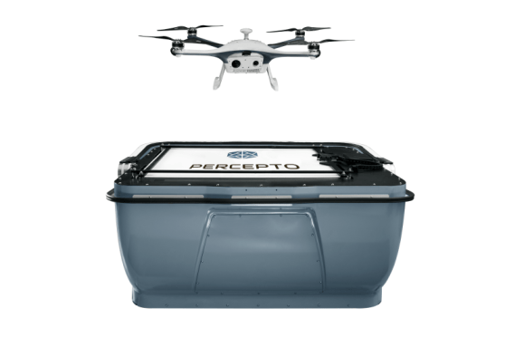 Percepto drone in a box solution Sparrow Israel