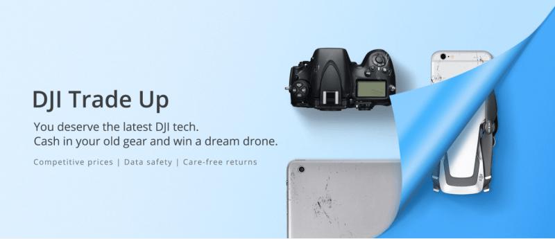 DJI Trade Up DJI online store old gear drone