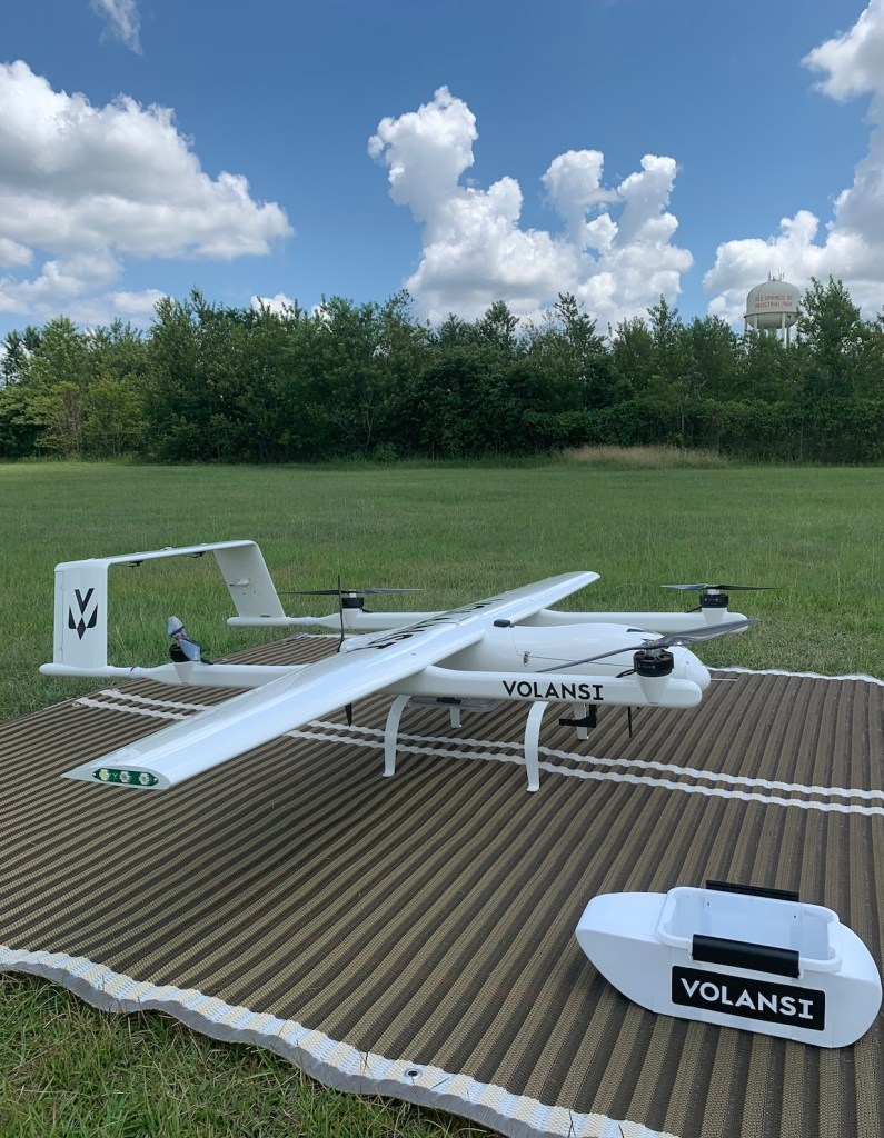 Volansi middle-mile delivery drone