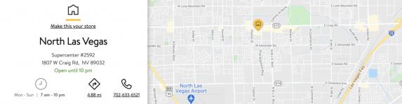 North Las Vegas Walmart 1807 West Craig Road