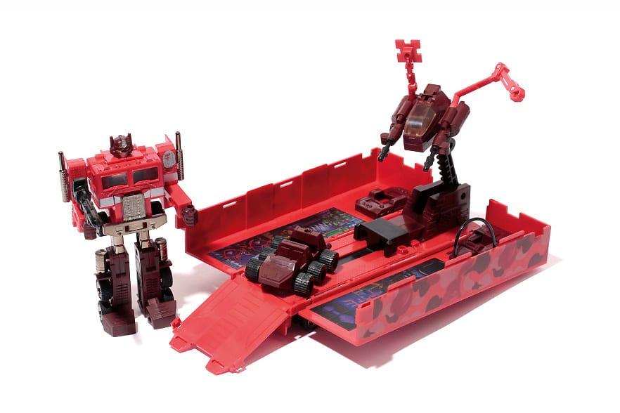 A Bathing Ape x Transformers Convoy Red Camo Version