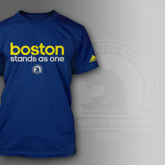 """ADIDAS LAUNCHES """"BOSTON STANDS AS ONE"""" T-SHIRT TO SUPPORT VICTIMS"""