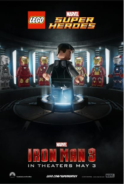 LEGO Versions of Iron Man 3 Posters Now Online