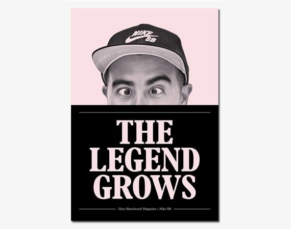 NIKE SB X GREY SKATEBOARD MAGAZINE – THE LEGEND GROWS ZINE